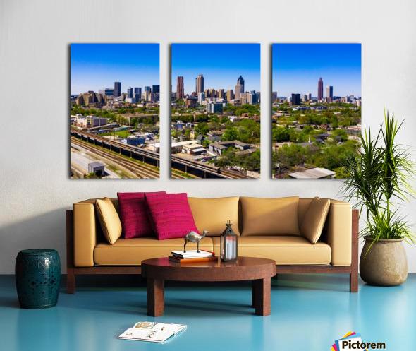 Atlanta GA  Panoramic Skyline 0618 Split Canvas print