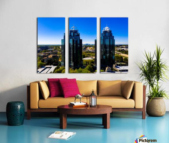 King and Queen Buildings   Atlanta GA 0556 Split Canvas print