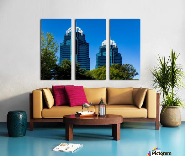 King and Queen Buildings   Atlanta GA 6686 Split Canvas print