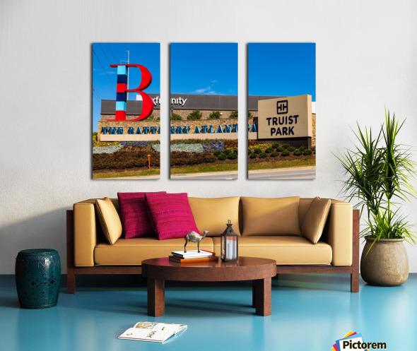 Truist Park   The Battery Atlanta GA 6703 Split Canvas print