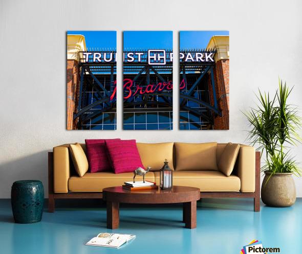 Truist Park   The Battery Atlanta GA 6748 Split Canvas print