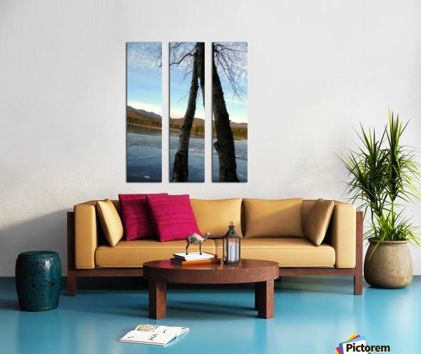 Love at the Lake Split Canvas print