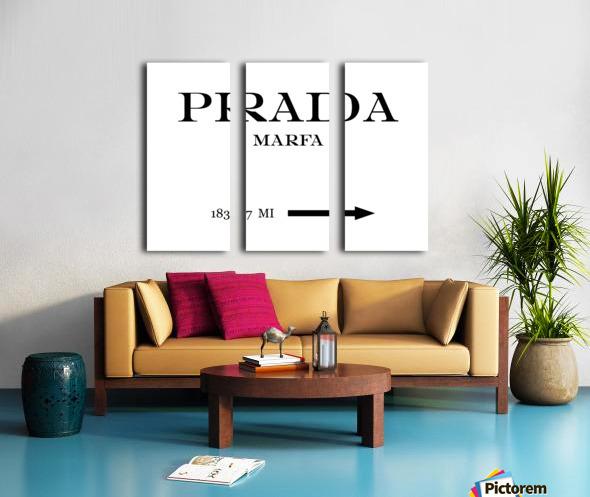 Prada Marfa Mileage Split Canvas print