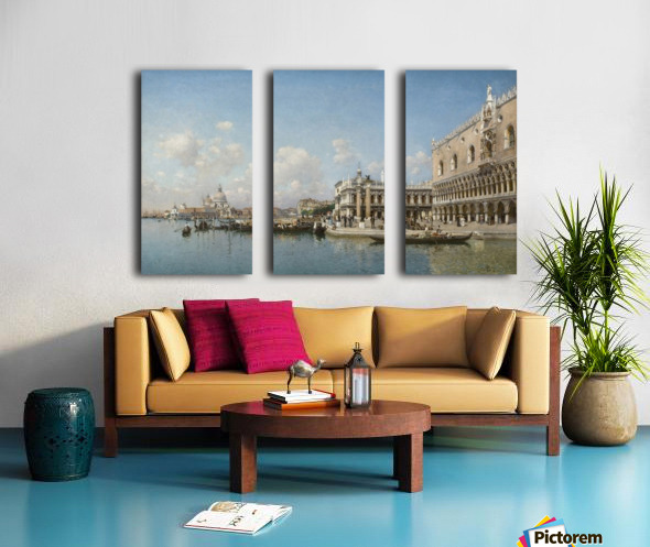 The Doge Palace and Santa Maria Della Salute Split Canvas print