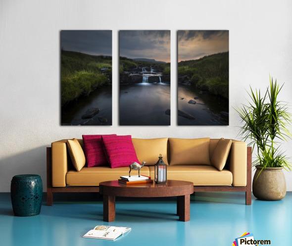 Dusk over the Brecon Beacons Split Canvas print