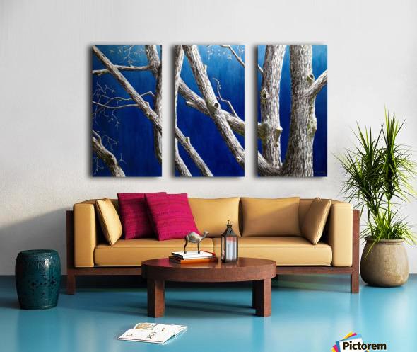 Trees at Dusk Split Canvas print
