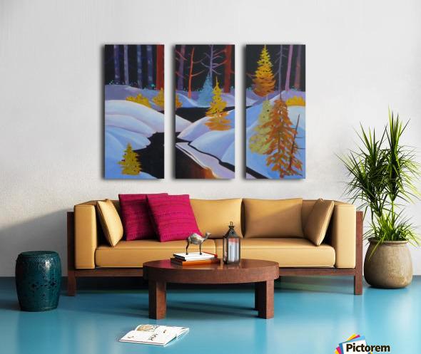 winterwonderland.acrylic Split Canvas print