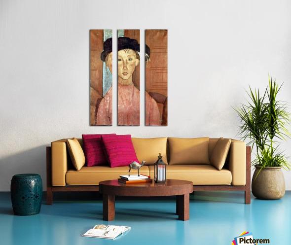 Modigliani - Girl with Hat Split Canvas print