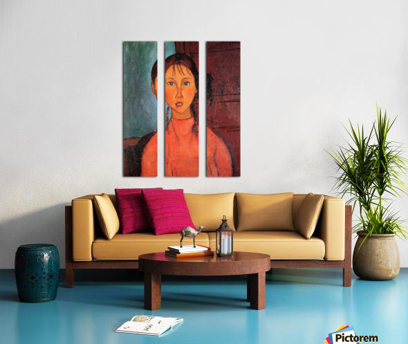 Modigliani - Girl with plaits Split Canvas print