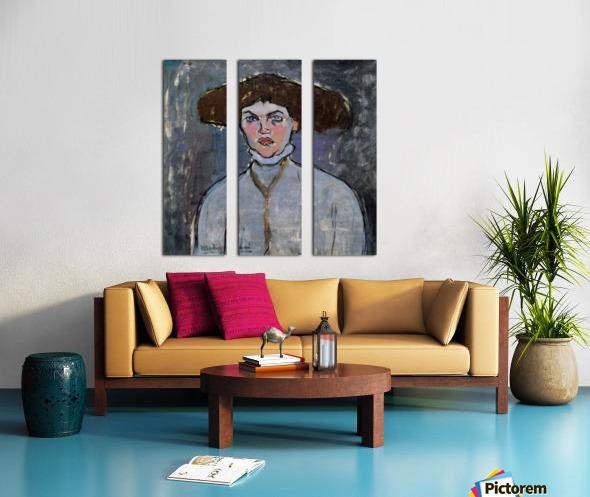 Modigliani - Head of a young woman Split Canvas print