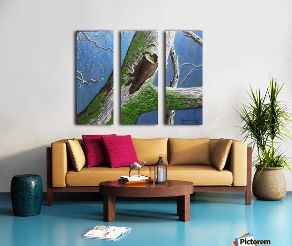 Mossy Branch Split Canvas print