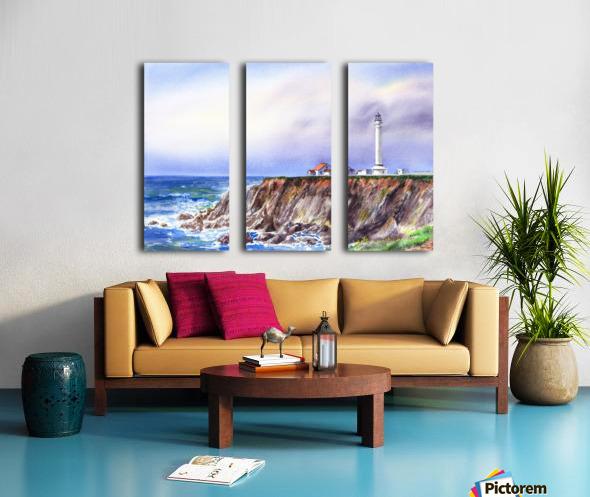 Lighthouse Point Arena California  Split Canvas print