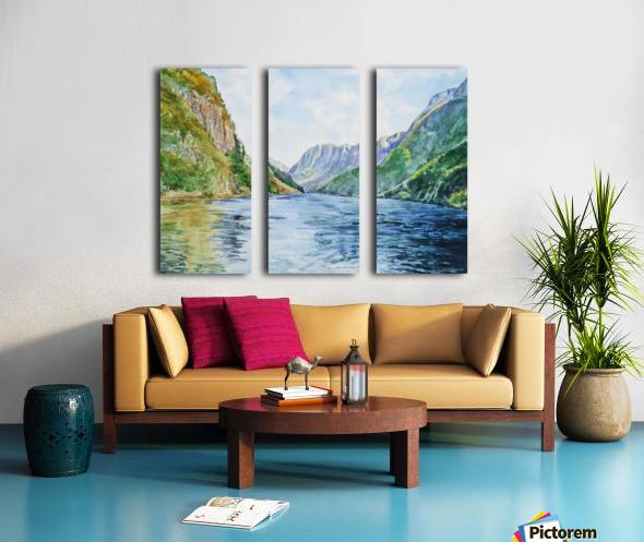 Norway Fjord Split Canvas print