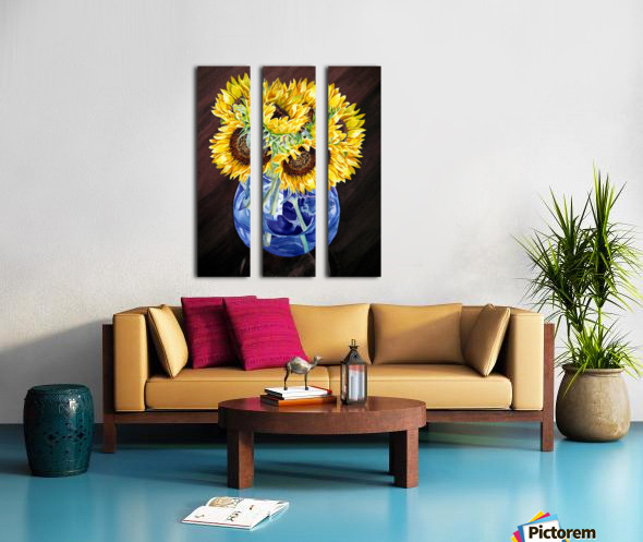 A Bunch Of Sunflowers Split Canvas print