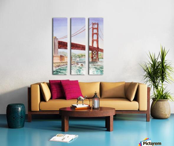 Golden Gate Bridge San Francisco Split Canvas print