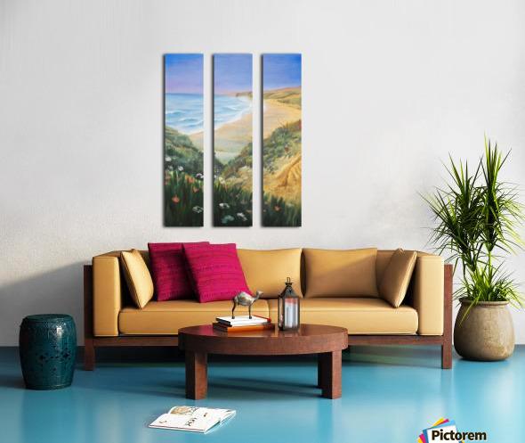 Ocean Shore Through The Hills Split Canvas print
