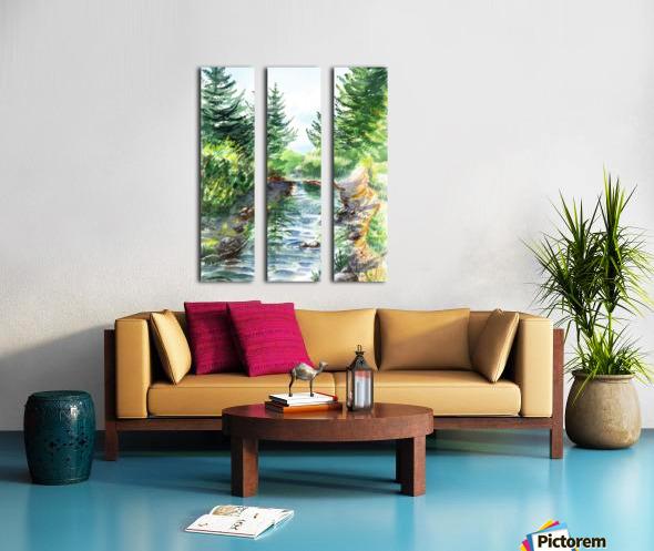 Forest Creek Split Canvas print