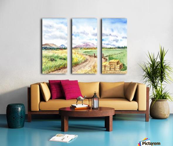 Farm Road The Mountains landsape Split Canvas print