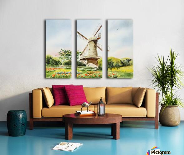 Dutch Windmill in San Francisco  Split Canvas print