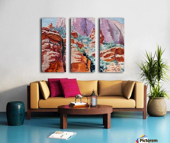 Sedona Arizona Rocky Canyon Split Canvas print