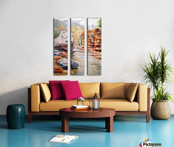 Sedona Arizona Slide Creek Split Canvas print