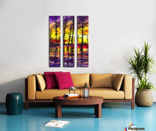 Bright Sunset Through The Trees Split Canvas print