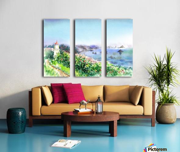 Lighthouse Trinidad California Split Canvas print