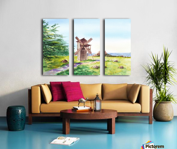 Landscapes Of California Fort Ross Windmill Split Canvas print
