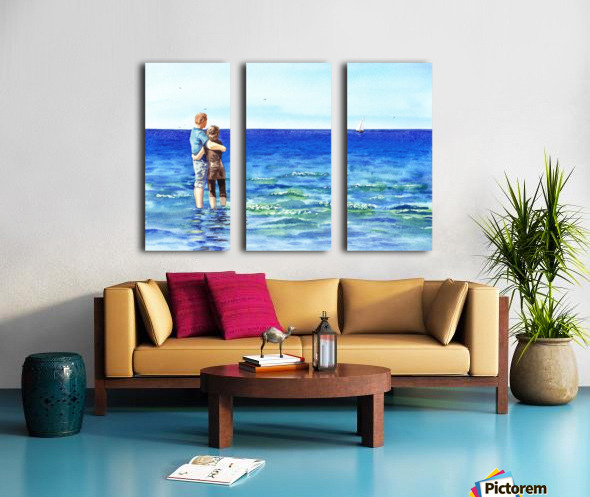 Couple And The Sea Split Canvas print