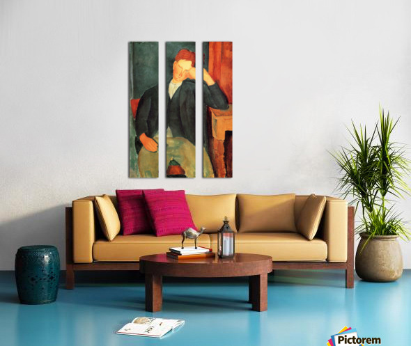 Modigliani - Peasant boy -2- Split Canvas print