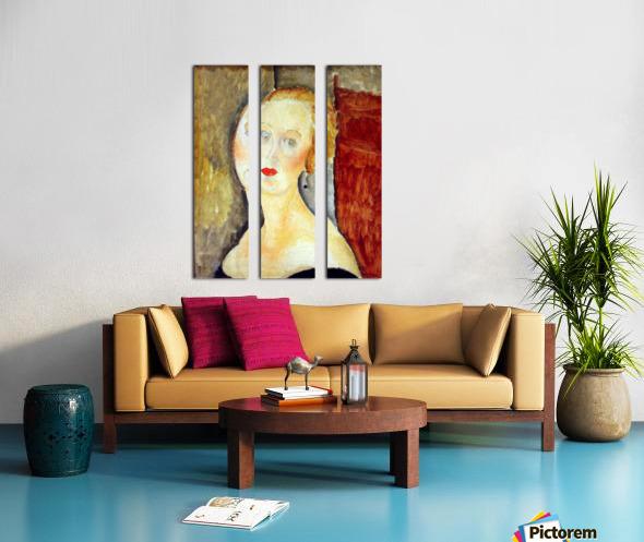 Modigliani - Portrait de Germaine Survage Split Canvas print