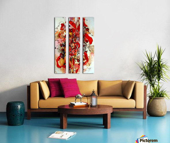 Magic red Split Canvas print