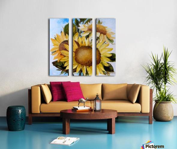 Floarea soarelui Split Canvas print