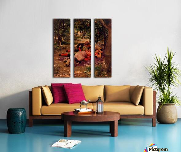 Bajo los Naranjos Split Canvas print