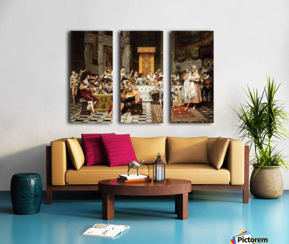 Spanish christening Split Canvas print