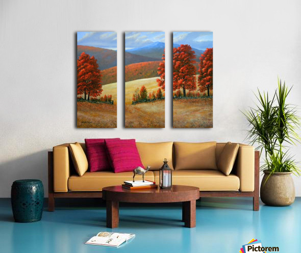Autumns Glory Split Canvas print