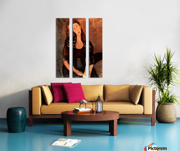 Modigliani - Portrait of Jeanne Hebuterne -3- Split Canvas print