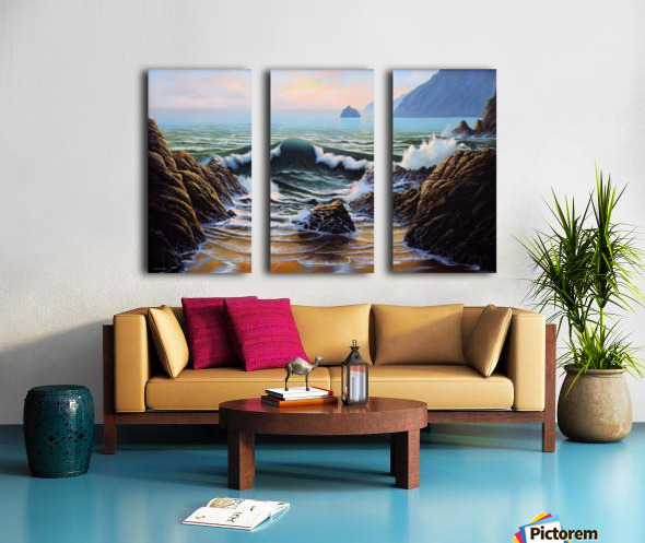 Dancing Tide Split Canvas print