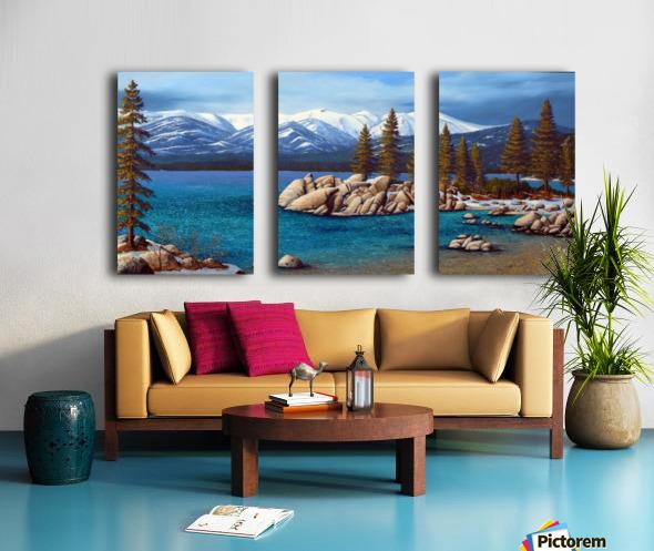 Winter At Sand Harbor Lake Tahoe Split Canvas print
