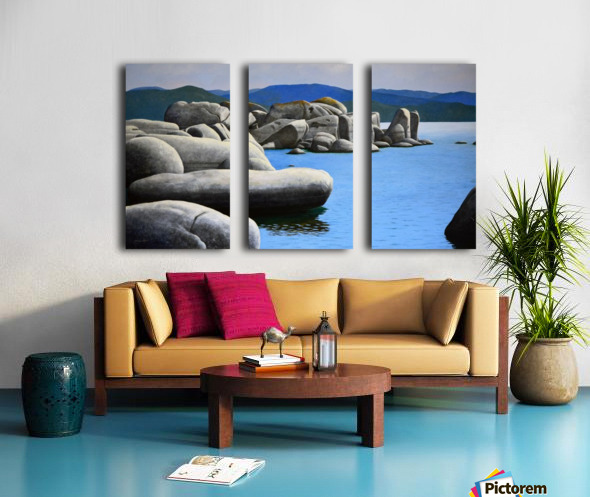 Lake Tahoe Rocky Cove Split Canvas print