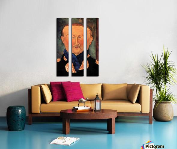 Modigliani - Portrait of Leon Bakst Split Canvas print