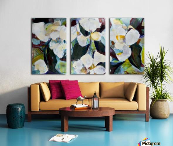 Louisiana Cubist Magnolia Split Canvas print