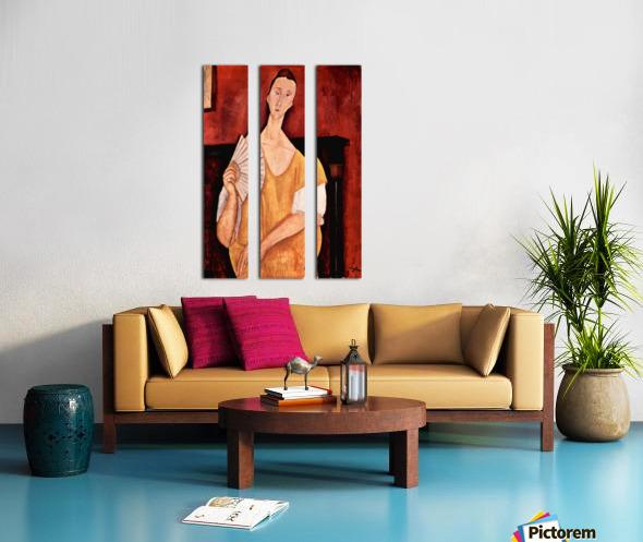 Modigliani - Portrait of Lunia Czechowska with fan Split Canvas print