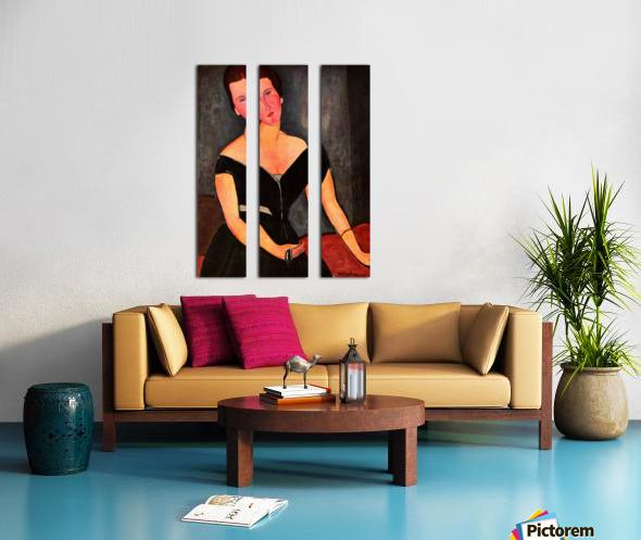 Modigliani - Portrait of Mrs van Muyden Split Canvas print