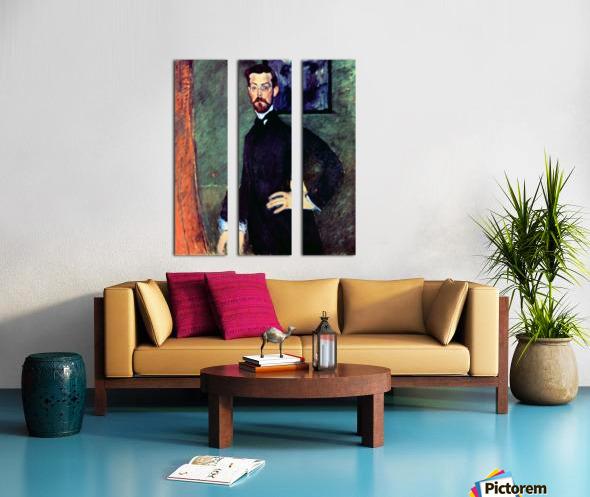 Modigliani - Portrait of Paul Alexanders before a green background Split Canvas print