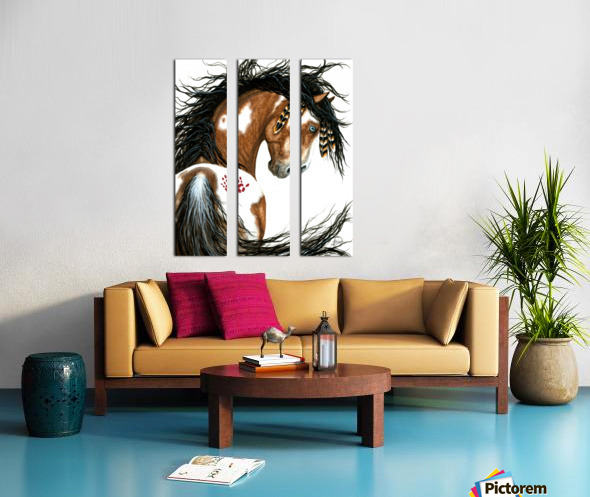 Majestic Pinto Horse Split Canvas print