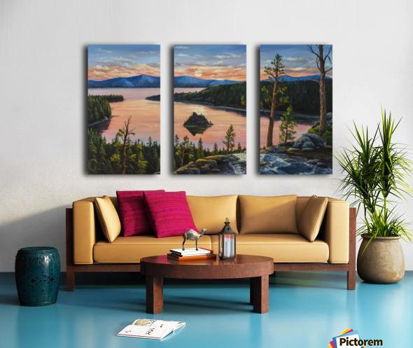 Emerald Bay Split Canvas print