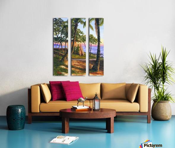 Canoe Beach Split Canvas print