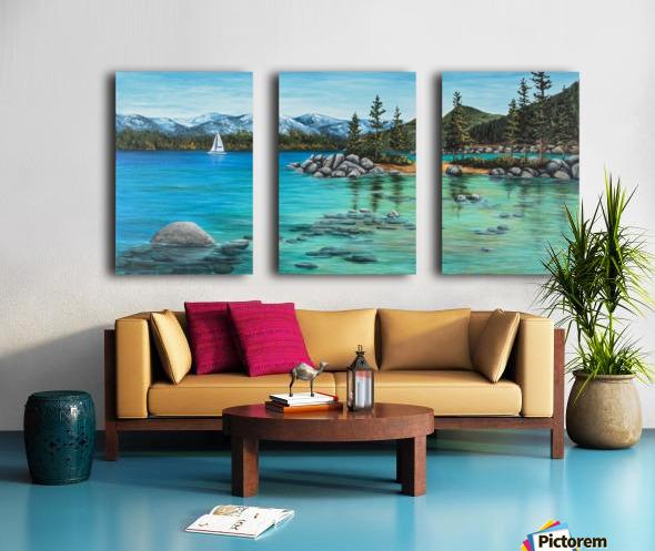 Sand Harbor Split Canvas print
