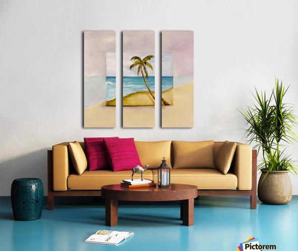 Swaying Palm Split Canvas print